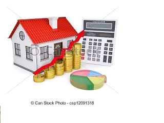 House with cash and calculater